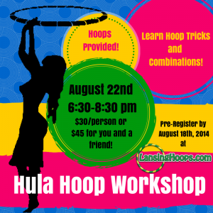 Adult Hula Hoop Workshop for Beginners 8/22/14