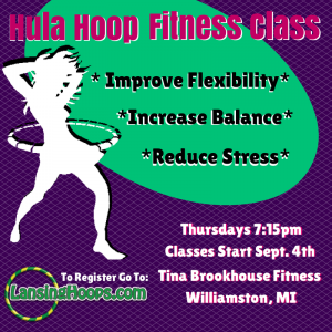 Adult Hula Hoop Class 9/4/14 – 10/9/14 Williamston