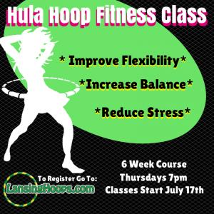Adult Hula Hoop Class 7/17/14-8/21/14 TBFS